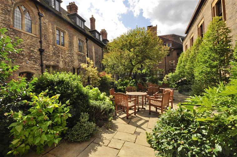 Historic North Courtyard at Trinity Hall Cambridge