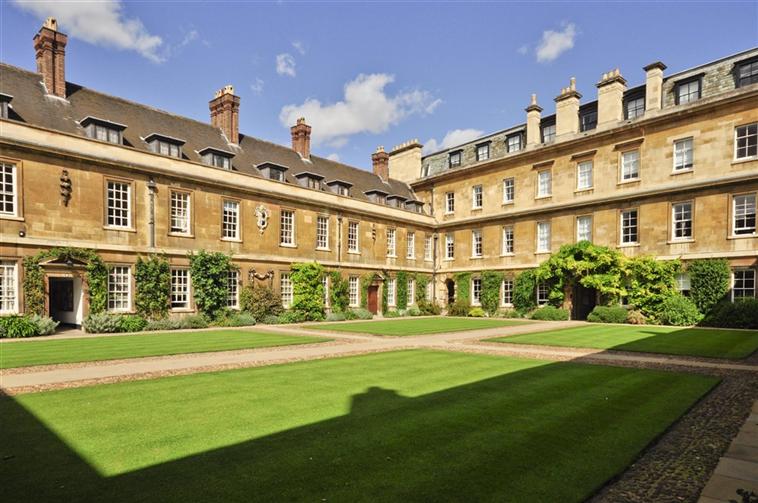 Historic Front Court at Trinity Hall Cambridge