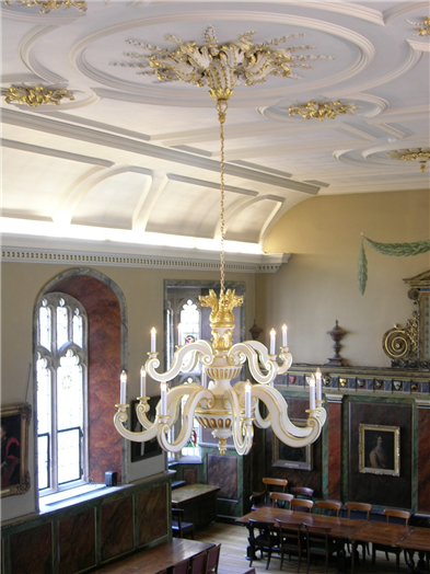 Chandelier in Hall