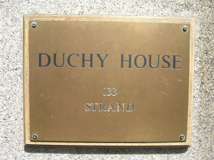 Duchy House Plaque