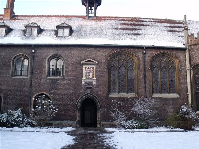 Queens' College in winter