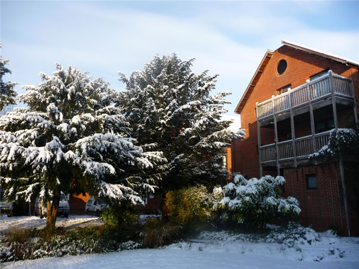 Accommodation Building in the Snow (single ensuites)