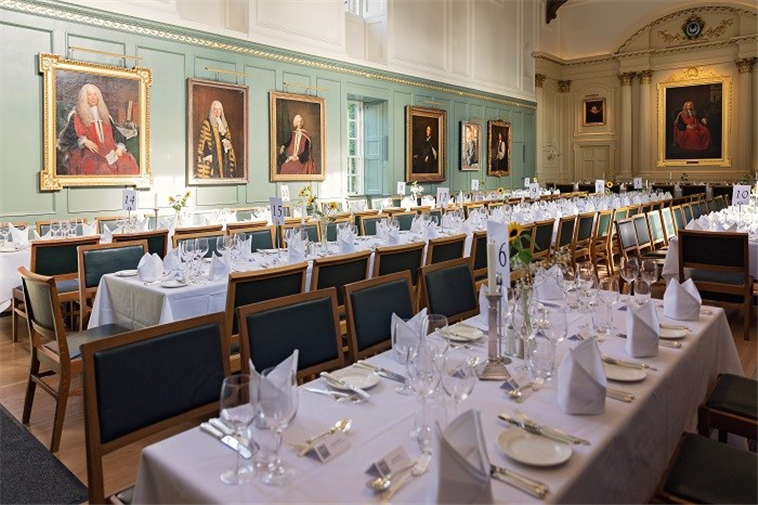 Medieval Dining Hall at Trinity Hall Cambridge (c) Liz Greenhalgh
