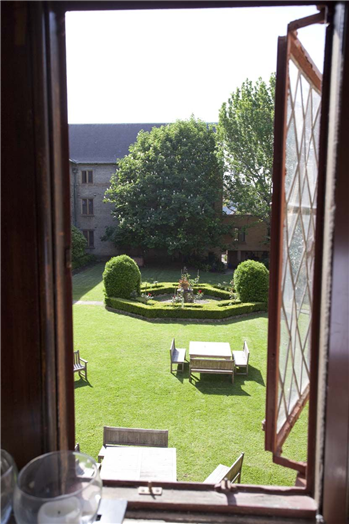 View from a room into the Quadrangle