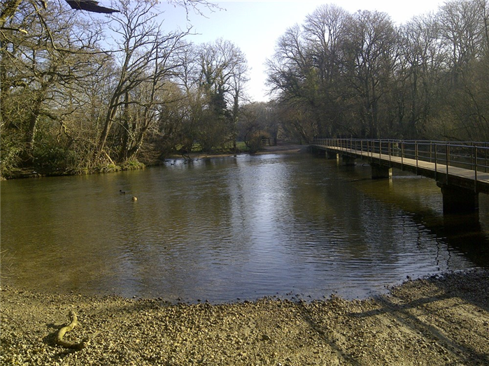 Footbridge over the river Frome, Moreton