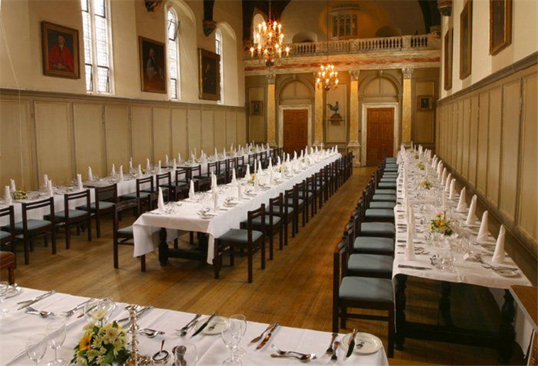 Hall where breakfast is served