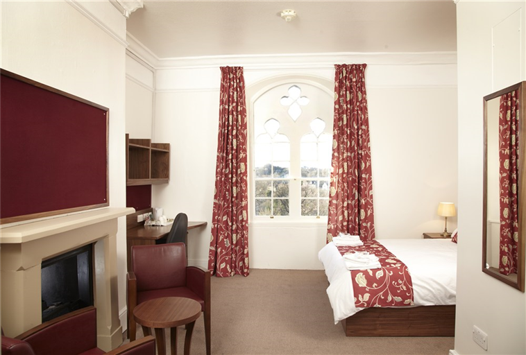 Newly refurbished room in the keep