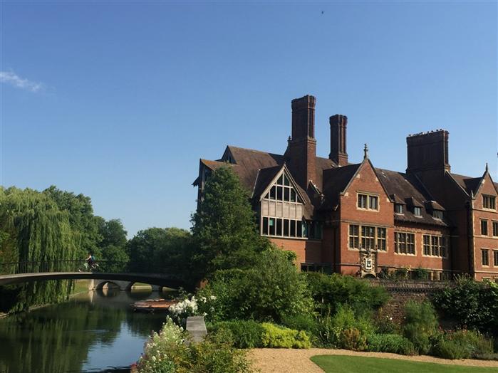 Riverside view of Trinity Hall Cambridge