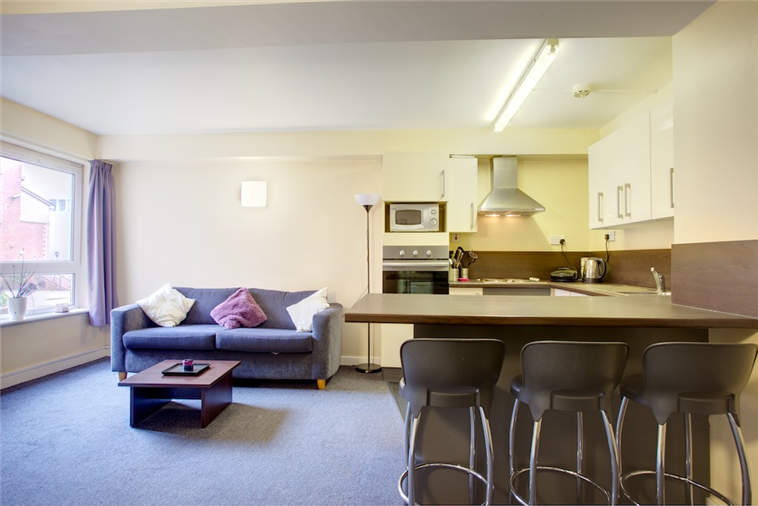 Shared lounge/kitchen area