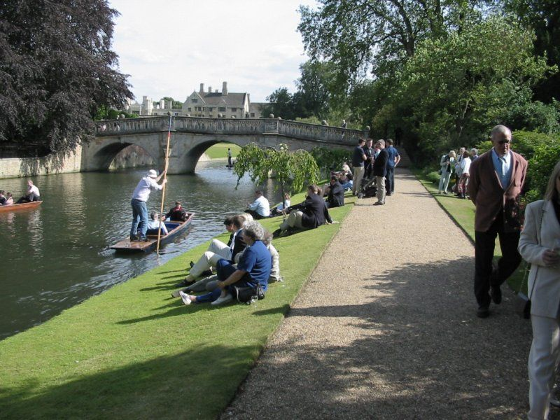 People by the River Cam