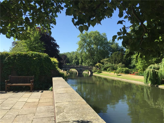 View from the River Terrace at Trinity Hall Cambridge