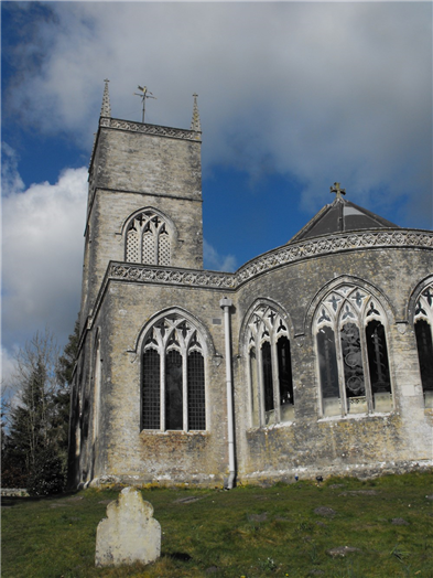St Nicholas's church in Moreton - Boosts windows by Lawrence Whistler.