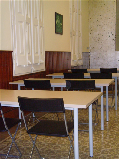 Conference Hall with desks