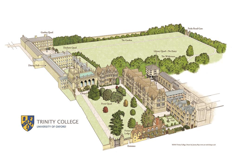 Map of trinity College